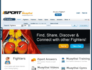muaythai.isport.com screenshot