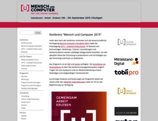 muc2015.mensch-und-computer.de screenshot