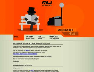 mucomplex.com screenshot