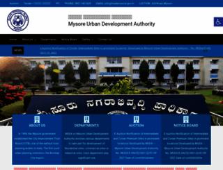 mudamysore.gov.in screenshot