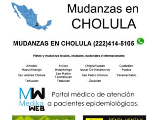 mudanzasencholula.com screenshot