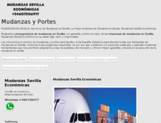 mudanzasevillaeconomica.com screenshot