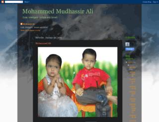 mudhassirali.blogspot.com screenshot