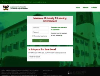 muele.mak.ac.ug screenshot