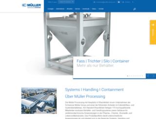 mueller-gmbh.com screenshot