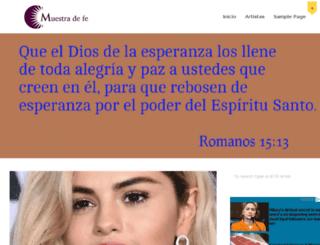 muestradefe.com screenshot