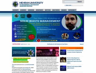muet.edu.pk screenshot