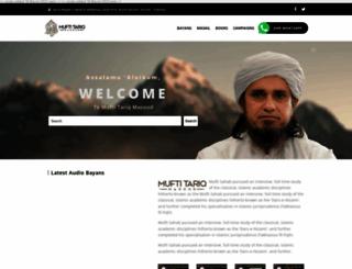 muftitariqmasood.com screenshot