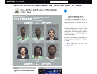 mugshots.gainesville.com screenshot