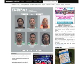 mugshotsgainesville.com screenshot