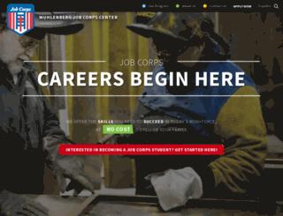 muhlenberg.jobcorps.gov screenshot