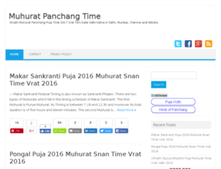 muhuratpanchangtime.in screenshot