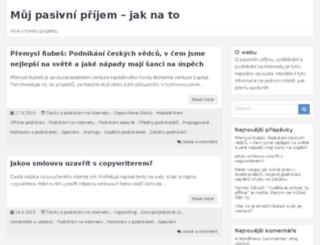 muj-pasivni-prijem.cz screenshot