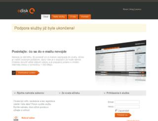 muj2.edisk.sk screenshot