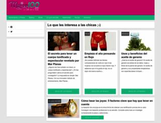 mujer100.com screenshot