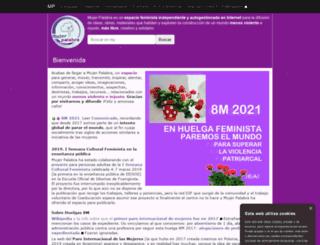 mujerpalabra.net screenshot