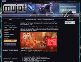 mujot.com.ar screenshot