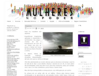 mulheresnopoder.com.br screenshot