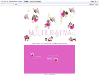 multicriativa.blogspot.com.br screenshot