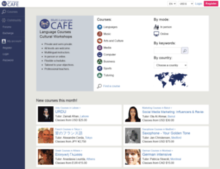 multilanguagecafe.com screenshot
