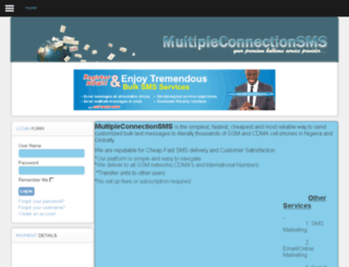 multipleconnectionsms.com screenshot