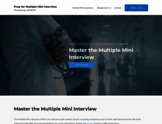 multipleminiinterview.com screenshot
