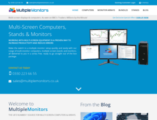 multiplemonitors.co.uk screenshot