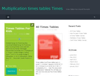 multiplicationtimestablestimes.com screenshot
