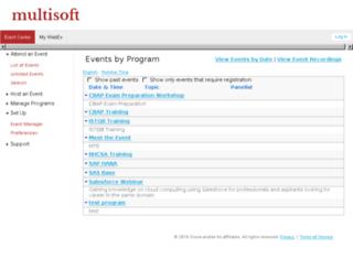 multisoft.webex.com screenshot