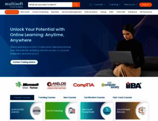 multisoftvirtualacademy.com screenshot