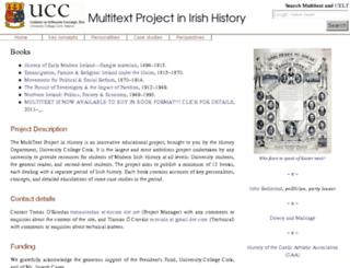 multitext.ucc.ie screenshot