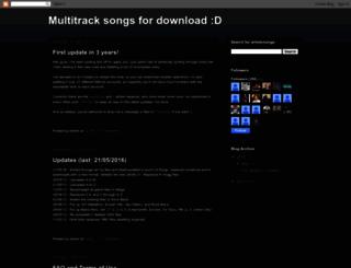 multitrackdownloads.blogspot.com screenshot