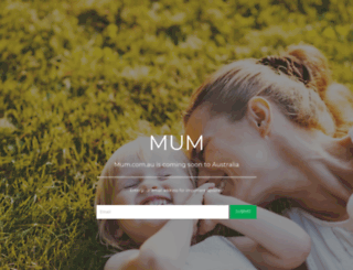 mum.com.au screenshot