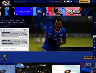 mumbaiindians.com screenshot