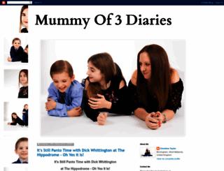 mummyof3diaries.co.uk screenshot