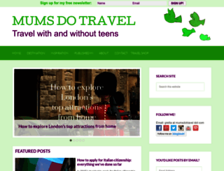 mumsdotravel.com screenshot