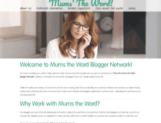 mumsthewordnetwork.com screenshot
