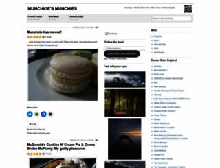 munchkie.wordpress.com screenshot