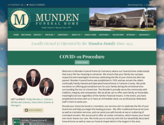 mundenfuneralhome.net screenshot