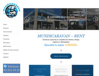mundicaravan.com screenshot