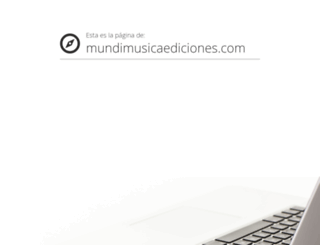 mundimusicaediciones.com screenshot