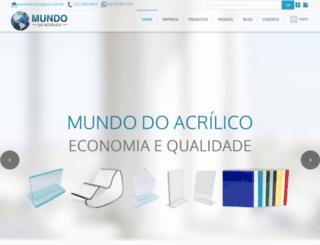 mundodoacrilicos.com.br screenshot