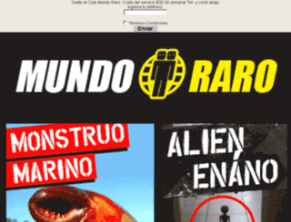 mundoraro.mx screenshot