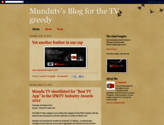 mundutv.blogspot.com screenshot
