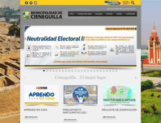 municieneguilla.gob.pe screenshot