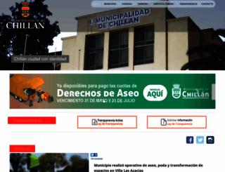 municipalidadchillan.cl screenshot