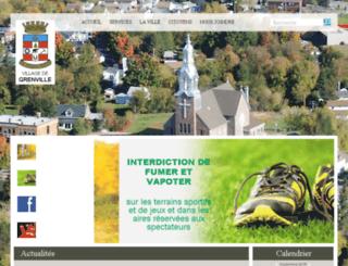 municipalitegrenville.qc.ca screenshot