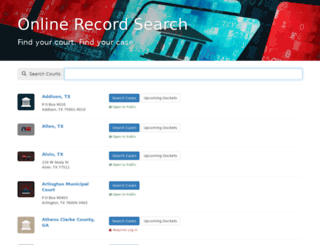 municipalrecordsearch.com screenshot