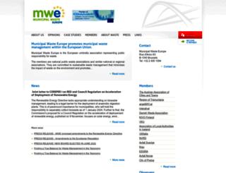 municipalwasteeurope.eu screenshot