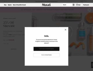 murad.co.uk screenshot